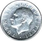 1 lira (étoile à droite) -  avers