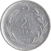 2½ lira -  revers