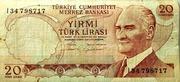 20 Turkish Lira -  avers