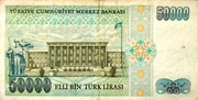 50,000 Turkish Lira -  revers