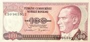 100 Lirasi -  avers
