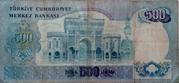 500 Türk Lirası – revers