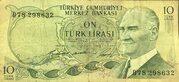 10 Turkish Lira -  avers