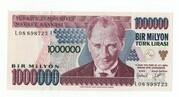 1000000 Lirasi -  avers