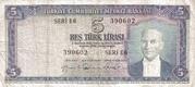 5 Lira (Green reverse) – avers
