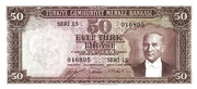 50 Lira (Orange reverse) – avers