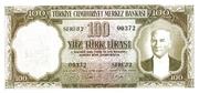 100 Lira (Blue reverse) – avers