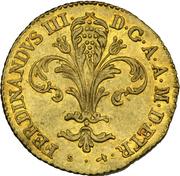 1 Zecchino, Ferdinando III – avers