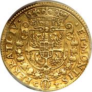 2 doppie, 4 ducati Ferdinando – revers
