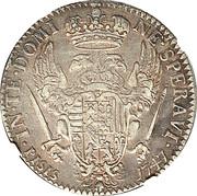 1 francescone, 10 paoli - Francesco III – revers