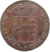 1 quattrino - Léopold II – avers