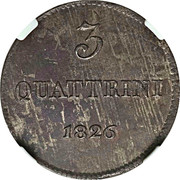 3 quattrini - Leopold II – revers