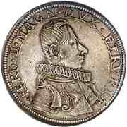 1 piastre Ferdinand II – avers