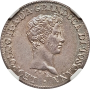 1 Fiorino - Leopold II – avers