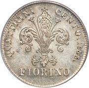 1 fiorino - Leopold II – revers