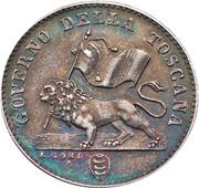 1 fiorino / 100 centesimi - Leopold II – avers