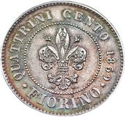 1 fiorino / 100 centesimi - Leopold II – revers