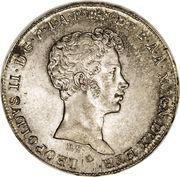 5 paoli - Leopold II – avers
