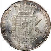 1 francescone, 1 quattro, 4 fiorini - Leopold II – revers