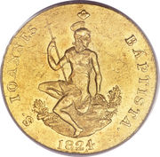 1 ruspone - Leopold II – revers