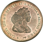 10 Lire - Charles Louis (2nd type) – avers