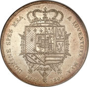 10 Lire - Charles Louis (2nd type) – revers