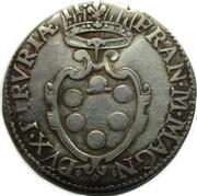 Francesco de Medici (1574-87), Giulio 1585 – avers