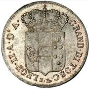 5 quattrini - Leopold II – avers