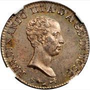 1 lira Ferdinando III – avers