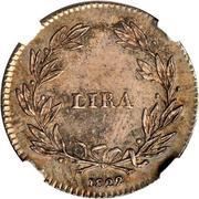 1 lira Ferdinando III – revers