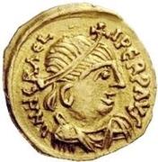 1 tremissis Au nom d'Heraclius, 610-641 (buste réaliste; grosse tête) – avers