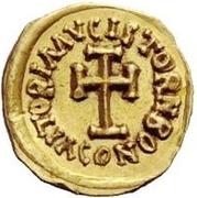 1 tremissis Au nom d'Héraclius, 610-641 (buste réaliste; grosse tête) – revers