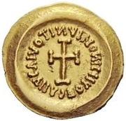 1 tremissis Au nom d'Heraclius, 610-641 (buste réaliste; tête régulière avec étoiles) – revers