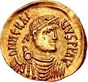 1 tremissis Au nom d'Heraclius, 610-641 (buste réaliste; tête régulière sans étoiles) – avers