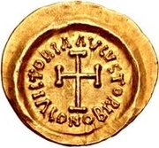 1 tremissis Au nom d'Héraclius, 610-641 (buste réaliste; tête régulière sans étoiles) – revers