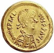 1 tremissis Au nom d'Héraclius, 610-641 (buste de ligne; ordinaire) – avers