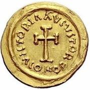 1 tremissis Au nom d'Héraclius, 610-641 (buste de ligne; ordinaire) – revers