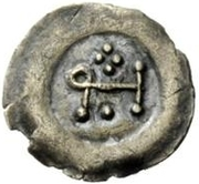 ½ silique Au nom d'Héraclius, 610-641 – revers