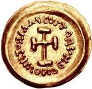 1 tremissis Au nom d'Héraclius, 610-641 (buste de ligne; se penchant en avant) – revers