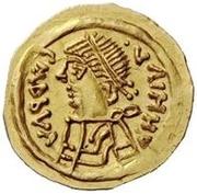 1 tremissis Au nom d'Héraclius, 610-641 (buste de ligne; face à gauche) – avers