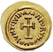 1 tremissis Au nom d'Héraclius, 610-641 (buste de ligne; face à gauche) – revers