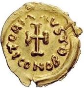 1 tremissis Au nom de Constant II, 641-668 (croix courte) – revers