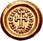 1 tremissis Au nom en inscriptions dégénérées (torse avec six sections; sans B) – revers