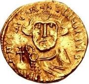 1 solidus Au nom de Constant II, 641-668 (Spoleto; sans symbole) – avers