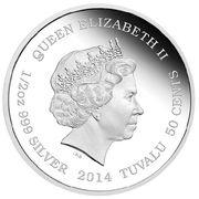 50 Cents - Elizabeth II (4th Portrait - Newborn) – avers