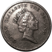 10 cents Elizabeth II (3e effigie) – avers