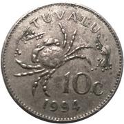 10 cents Elizabeth II (3e effigie) – revers
