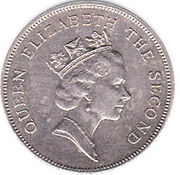 20 cents Elizabeth II (3e effigie) – avers