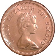 1 cent Elizabeth II (2e effigie) – avers