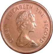 2 cents Elizabeth II (2e effigie) – avers
